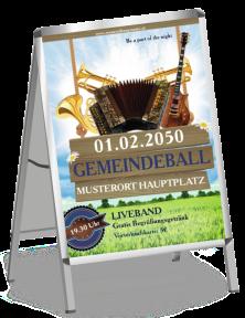 Plakat Ball Instrumente Blau A0