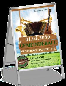 Plakat Ball Instrumente Gruen A0